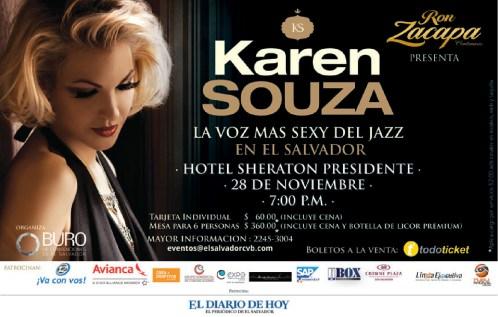 Ron ZACAPA presenta Karen Souza en concierto de JAZZ