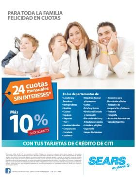 SEARS promocion de hoy con tarjetas banco CITI - 08nov13