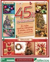 Super Selectos descuento en decoracion navideña - 23nov13