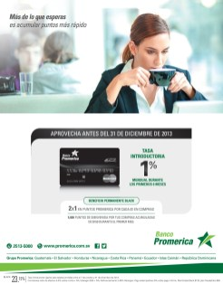 Tarjeta de credito Mastercard BLACK de Banco Promerica - 19nov13