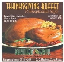 Thanksgiving Buffet Pennsylvania Style BASILEA GRILL - 23nov13