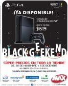 Tiendas MAX disponible PS4 oferta - 29nov13