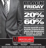 Trajes para caballero MONTECARLO black friday - 29nov13