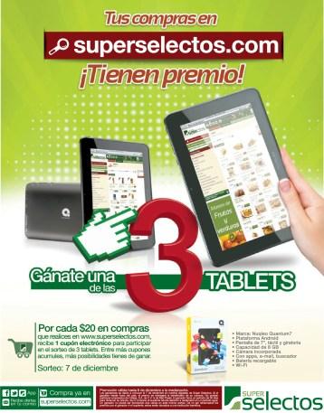 Tus compras en SuperSelectos.com tienen premio TABLETS - 08nov13