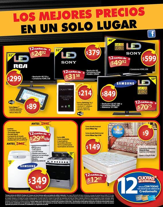 walmart black weekend ofertas destacadas - 29nov13 TV LED, SMART TV