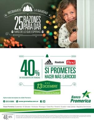 ADIDAS descuento con Tarjetas Banco Promerica - 13dic13