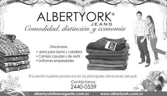 Albert YORK jeans el salvador comodidad y economia - 30dic13