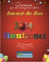 Bienvenido año 2014 Radio Fiesta y Movistar
