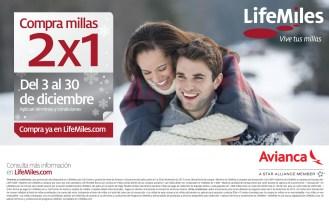 Compra MILLAS al 2x1 en Diciembre LifeMiles.com - 12dic13