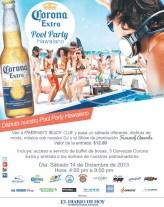 Corona extra te invita POOL PARTY Hawaiano