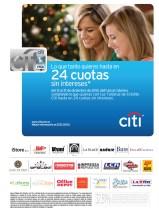 Cuotas sin interes con tarjeta BANCO CITI - 17dic13