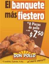 El banquete mas fiestero DON POLLO promociones - 30dic13