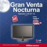 Gran venta noctura TV LG office depot