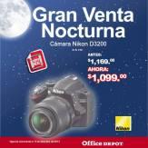 Gran venta noctura office depot Camara Nikon