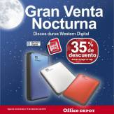 Gran venta noctura office depot Discos Duros Western Digital