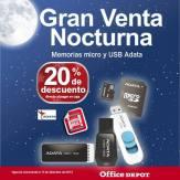 Gran venta noctura office depot Memorias SD y Micro