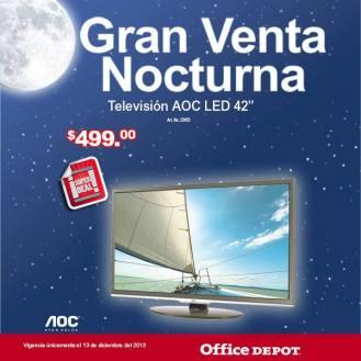 Gran venta noctura office depot Television LED AOC 42