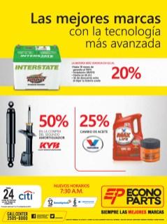 KYB amortiguadores y aceite Valvoline ECONO PARTS promociones - 18dic13