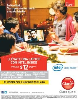 Laptop al contratar CASA CLARO en navidad - 10dic13