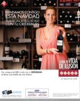 Navidad Botella de Vino gracias a CREDISIMAN - 17dic13