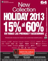 New Collection Holiday 2013 discounts MONTECARLO - 12dic13