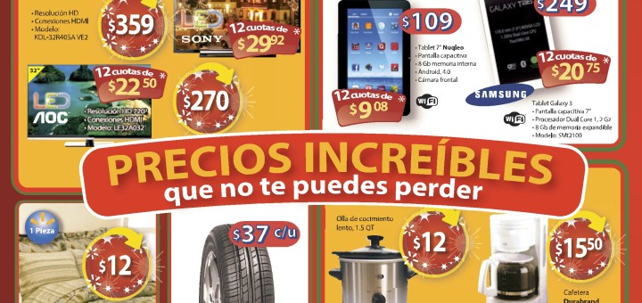 Precios increibles de navidad LLANTAS TABLETS Walmart - 23dic13
