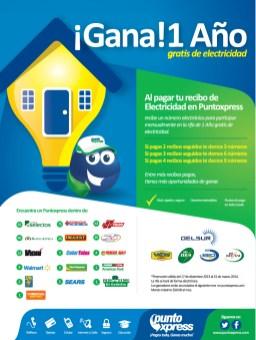 Punto Express el salvador GANA un año gratis de electricidad - 17dic13