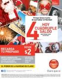 Recargas CLARO hoy cudruple saldo para hablar de navidad - 03dic13