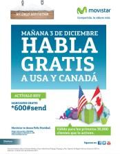 Regalo MOVISTAR mañana habla GRATIS a USA y CANADA - 02dic13