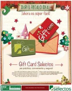 Regalo ideal en navidad SUPER SELECTOS gift card - 16dic13