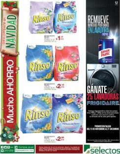 Super Selectos ofertas en detergente rinso - 16dic13