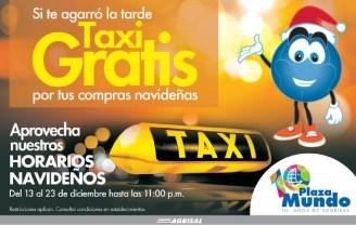 Taxi GRATIS gracias a tus compras en PLAZA MUNDO - 12dic13