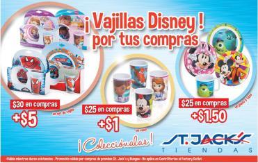 Vajillas Disney promociones STA JACKS - 14dic13