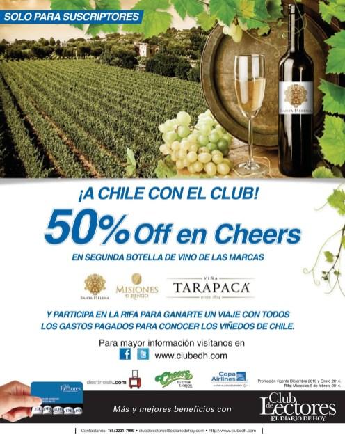 Vino chileno SANTA HELENA descuentos CHEERS - 26dic13