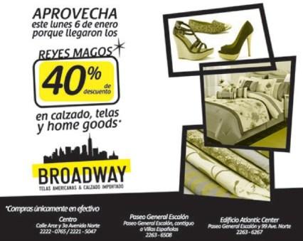 Broadway telas y calzado americano DESCUENTOS - 06ene14