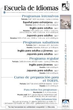 Curso preparacion TOEFL Universidad centroamericana UCA - 02ene14