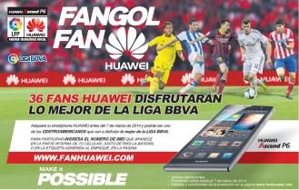 FANGOL FAN HUAWEI te lleva a la liga española