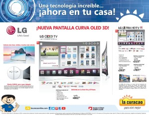 La Curacao nueva Pantalla Curva OLED 3D LG - 30ene14