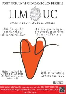 Magister en derecho empresa Pontificia Universidad Catolica de Chile
