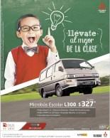 Microbus escolar Mitsubihi L300 regreso a clases