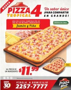 Pizza Hut el salvador Promocione nueva PIZZA 4 tropical - 27ene14