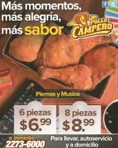Promocion Pollo Campero a domicilio piernas y muslos de Pollo