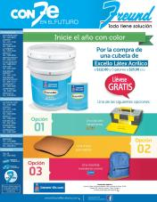 Promociones FREUND pinturas excello latex
