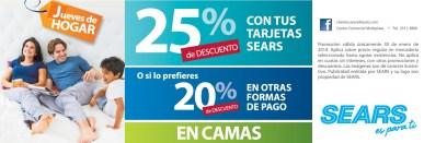 Promociones SEARS jueves de hogar - 30ene14