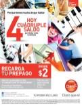Recargas CLARO promocion de hoy cuadruple saldo - 06ene14