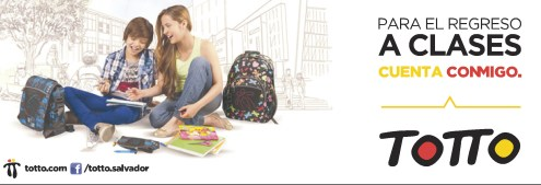 Regreso a clases con mochilas TOTTO el salvador - 06ene14
