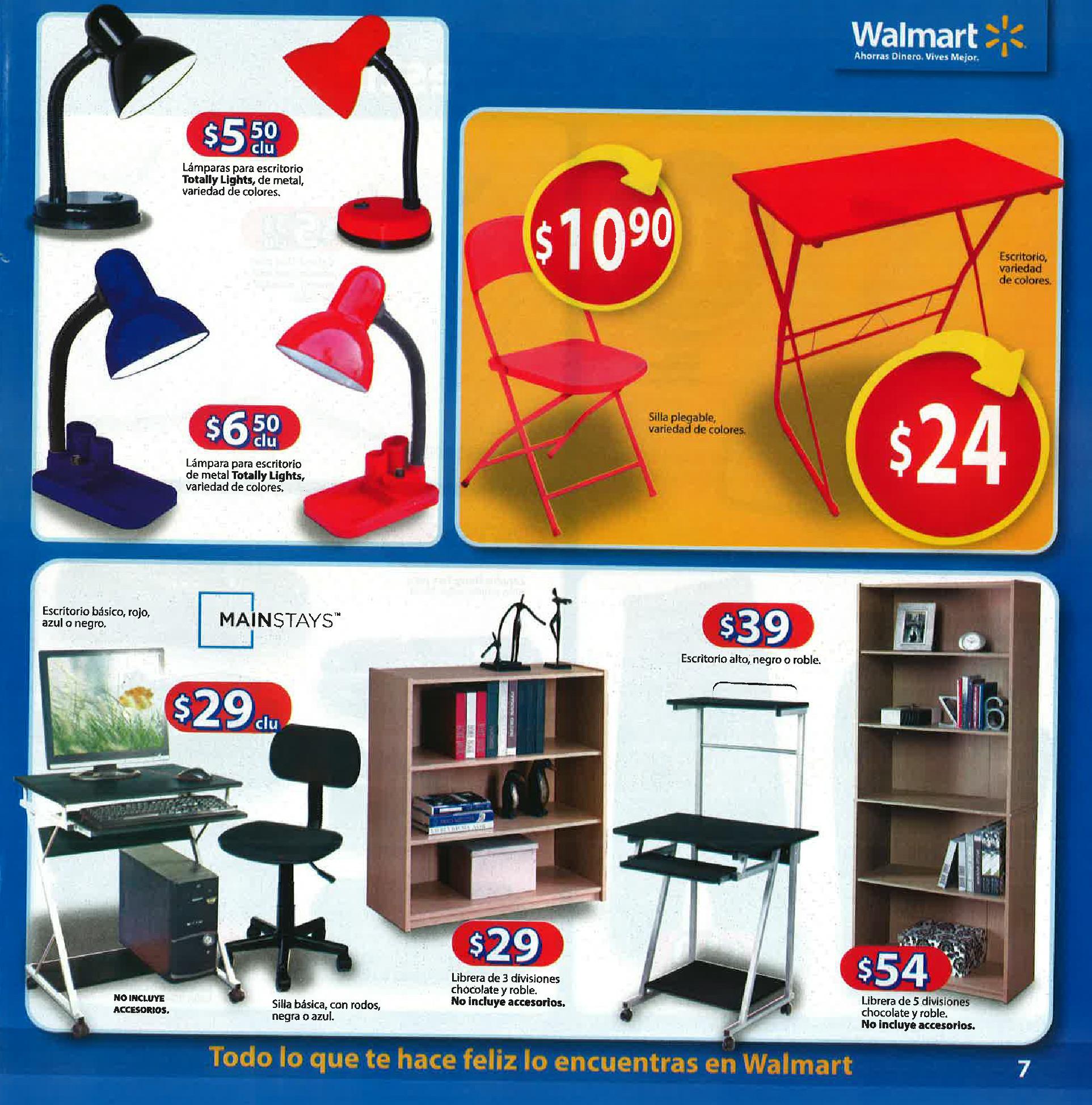 walmart escritorios sillas libreras guia de compras 2014