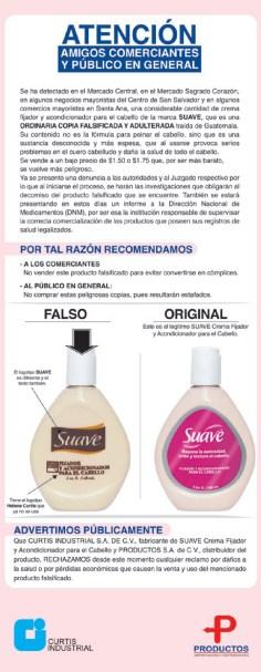 atencion Crema SUAVE falsificada - 30ene14