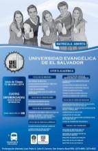 matricula abierta Universidad Evangelica de El Salvador