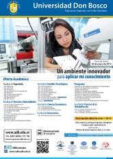 profesionales innovadores ofertas academica Universidad Don Bosco